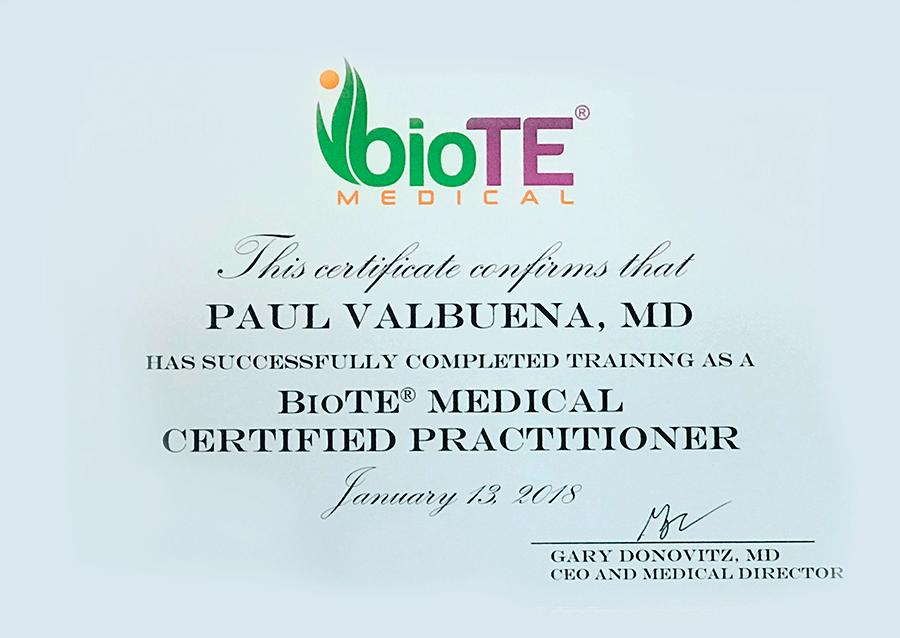 Biote certificate